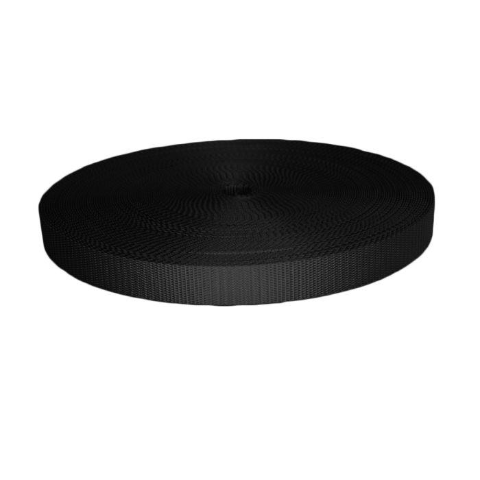 1 Inch Utility Polyester Webbing Black
