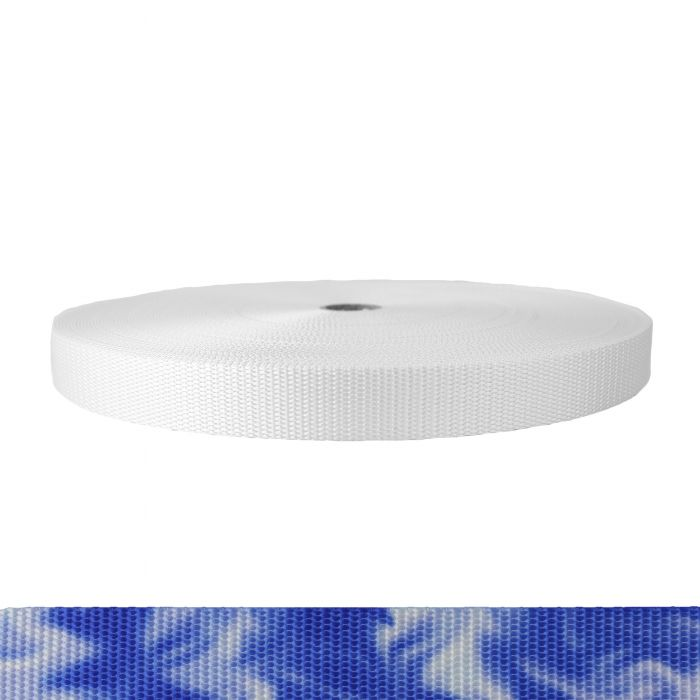 1 Inch Utility Polyester Webbing Blue Smoke