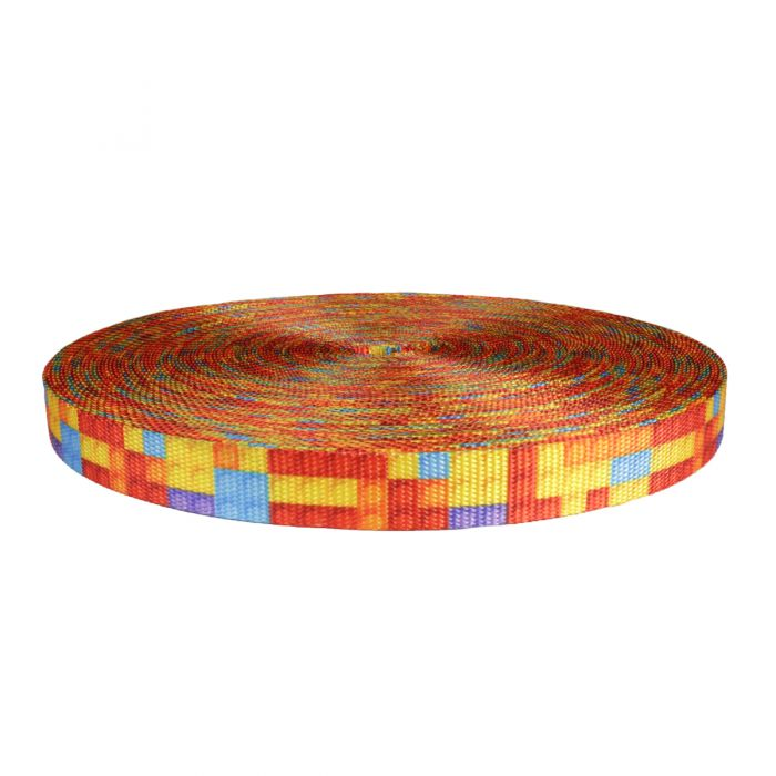 1 Inch Utility Polyester Webbing Color Blox