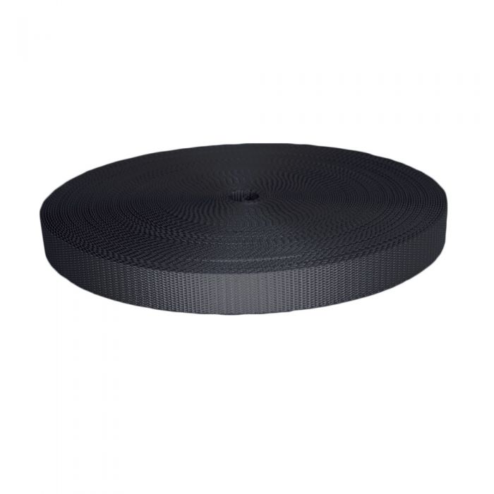 1 Inch Utility Polyester Webbing Charcoal