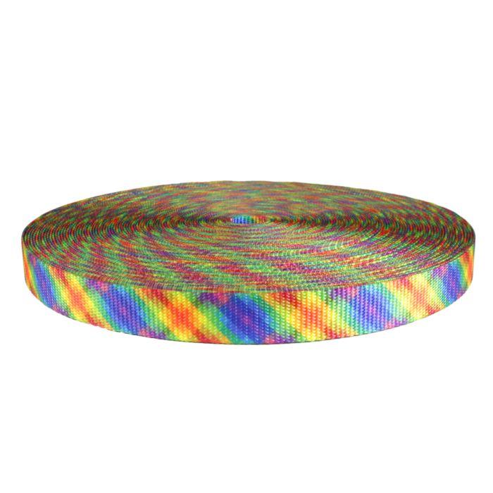 1 Inch Utility Polyester Webbing Calico Rainbow