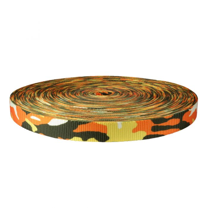 1 Inch Utility Polyester Webbing Camouflage Autumn