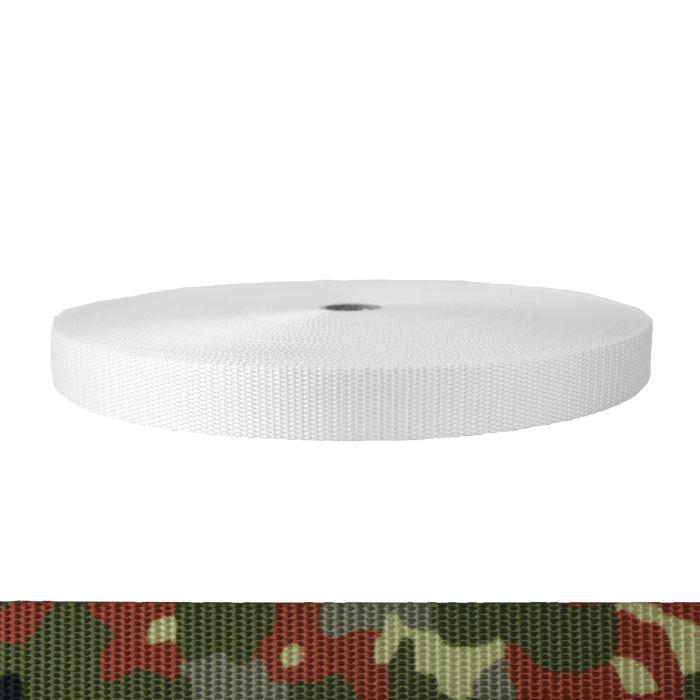 1 Inch Utility Polyester Webbing Camouflage Flecktarn
