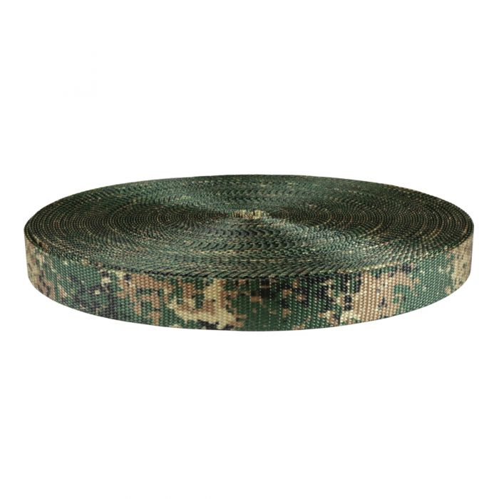 1 Inch Utility Polyester Webbing Camouflage Jarhead
