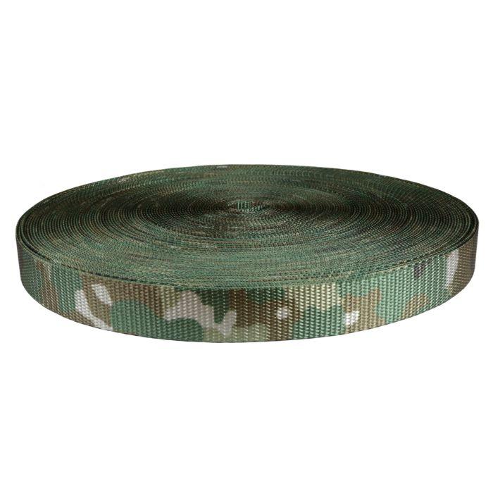 1 Inch Utility Polyester Webbing Camouflage Quadra
