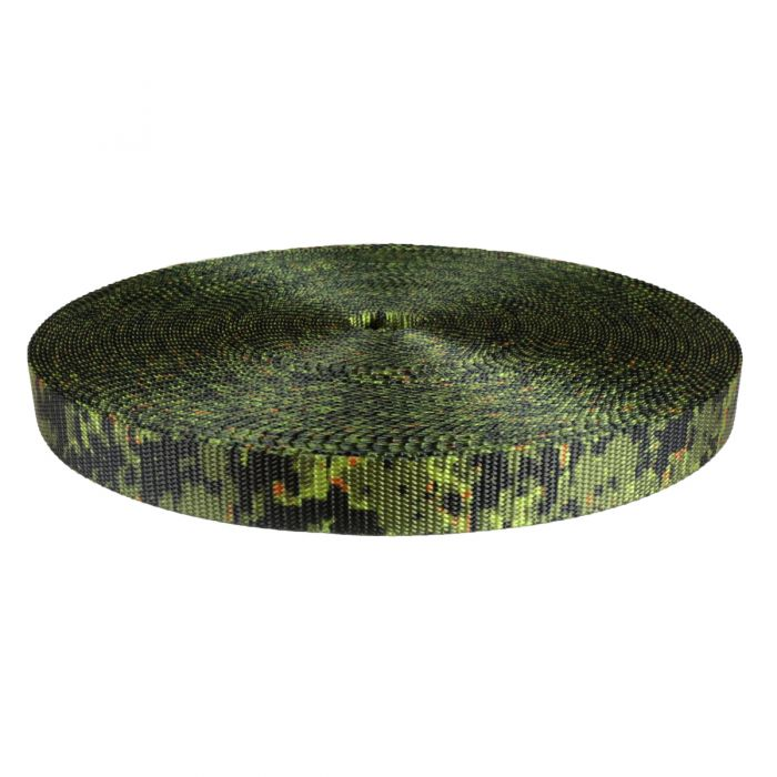 1 Inch Utility Polyester Webbing Camouflage Digital Jungle