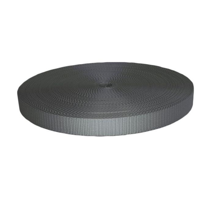 1 Inch Utility Polyester Webbing Gray