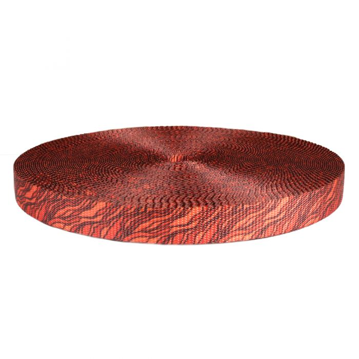 1 Inch Utility Polyester Webbing Hot Lava