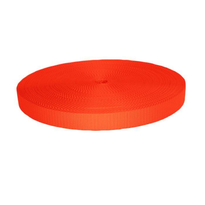 1 Inch Utility Polyester Webbing Orange