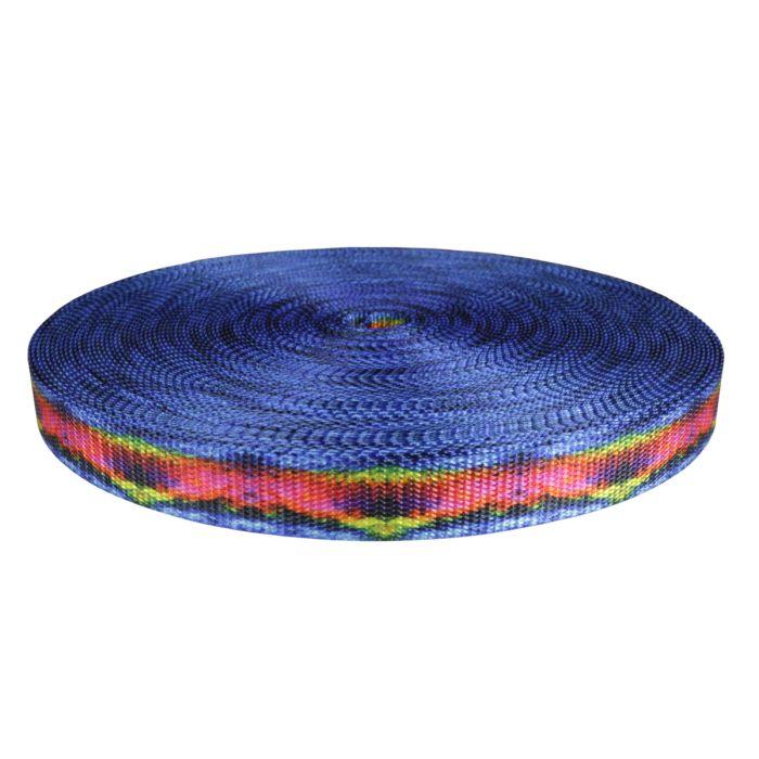 1 Inch Utility Polyester Webbing Psychic Rainbow