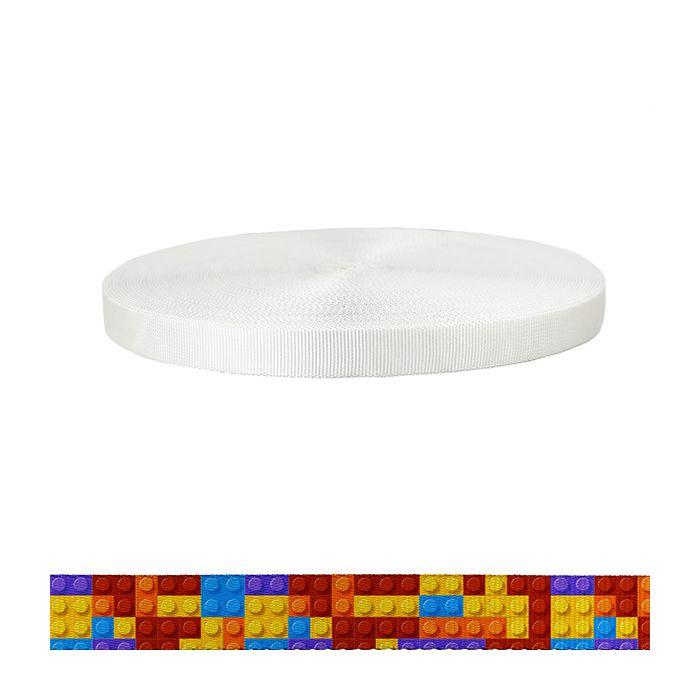 1 Inch Tubular Polyester Color Blox