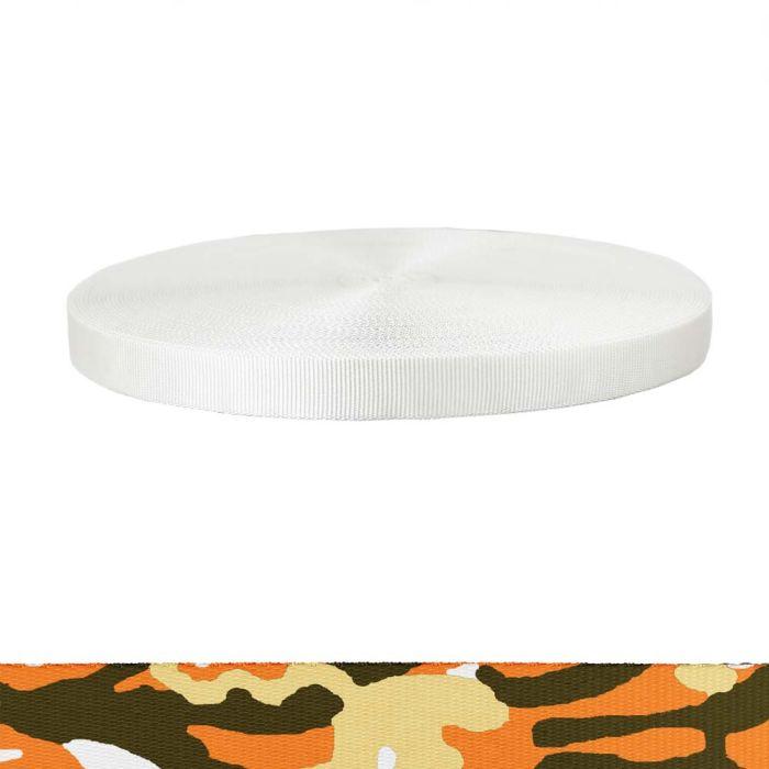 1 Inch Tubular Polyester Camouflage Autumn