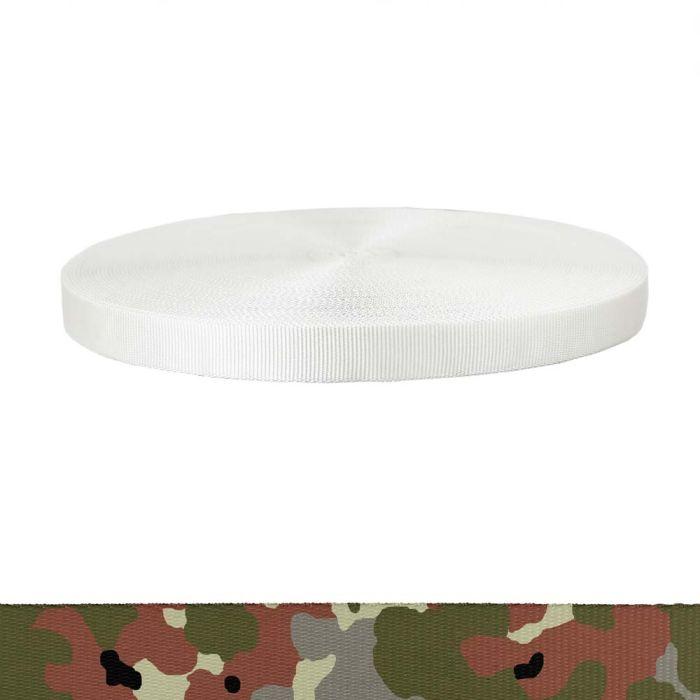1 Inch Tubular Polyester Camouflage Flecktarn