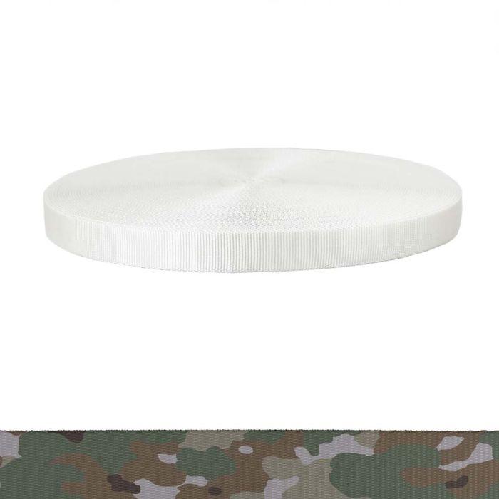 1 Inch Tubular Polyester Camouflage Quadra