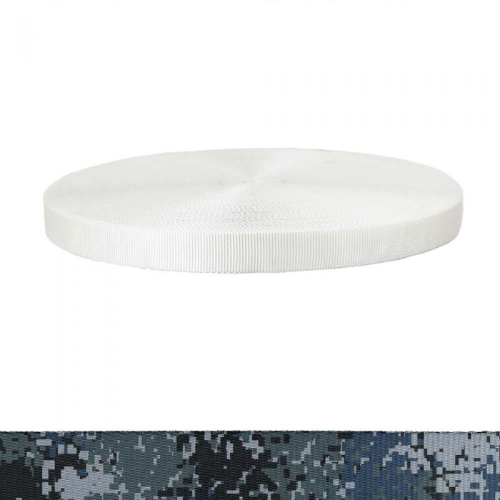 1 Inch Tubular Polyester Camouflage Digital Blue