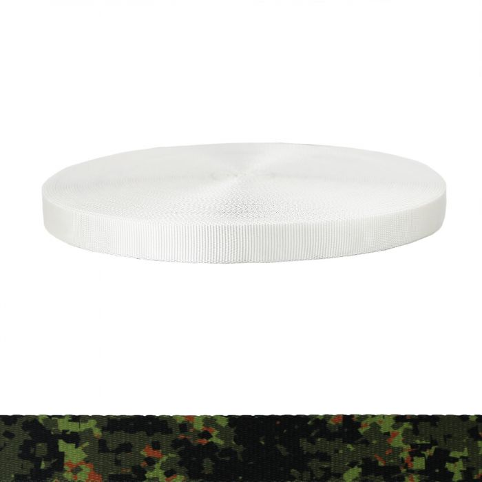 1 Inch Tubular Polyester Camouflage Digital Jungle
