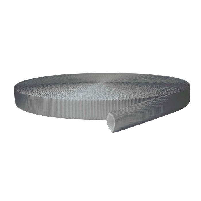 1 Inch Tubular Polyester Gray