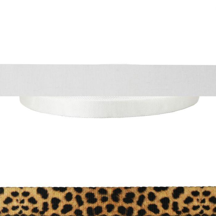 1 Inch Tubular Polyester Leopard