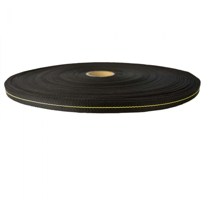 1 Inch High Tenacity Polypropylene Black
