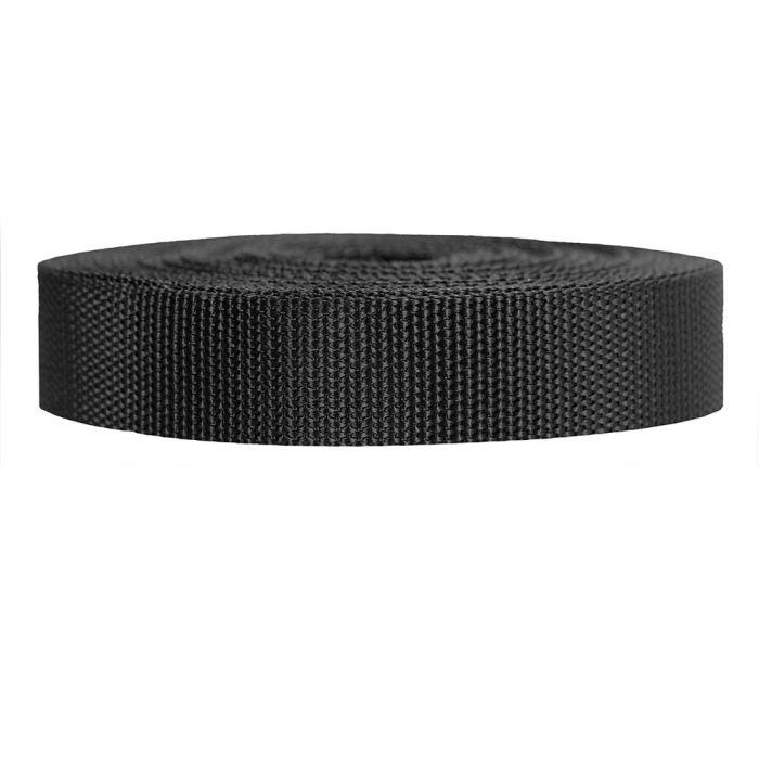 1 Inch Heavyweight Polypropylene Black