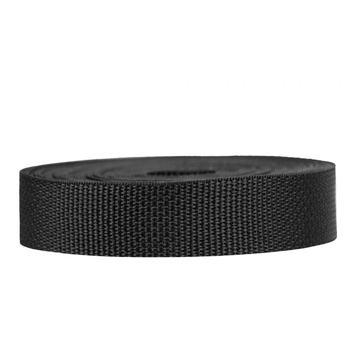 1 Inch Lightweight Polypropylene Black