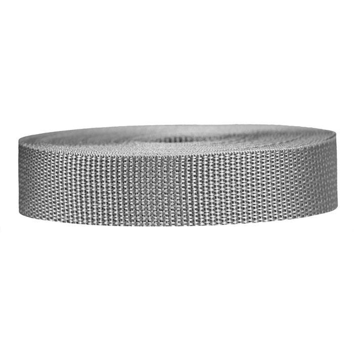 1 Inch Lightweight Polypropylene Silver Gray