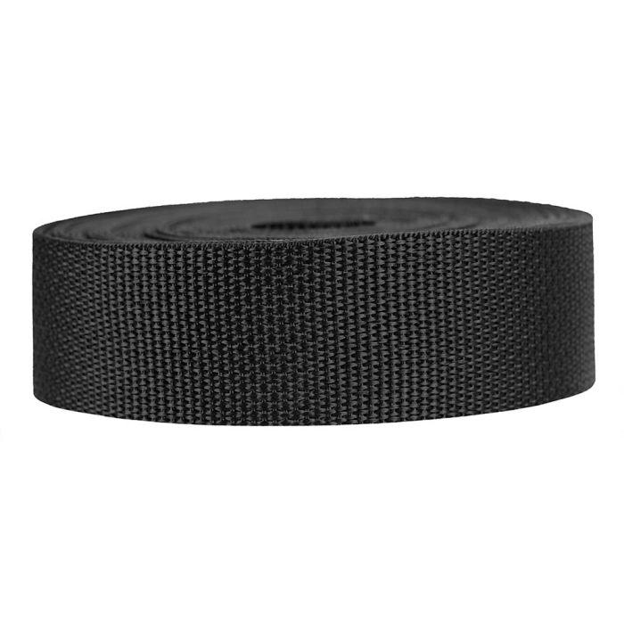 1-1/2 Inch Lightweight Polypropylene Black