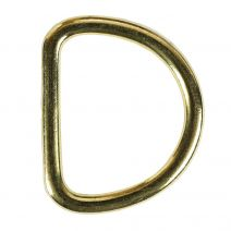 1 1/2 Inch Solid Brass D-Ring
