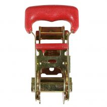 1 Inch Red Padded Ratchet Buckle