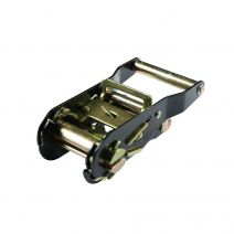 1 1/2 Inch Black Plated Ratchet Buckle