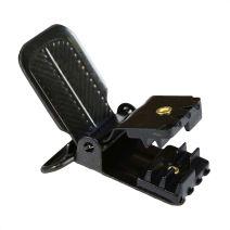 1 Inch Herringbone Black Plated Metal Suspender Clip