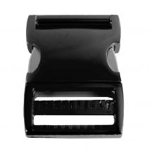 1 1/2 Inch Anodized Aluminum Side Release Buckle Gloss Black
