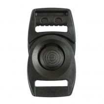 3/4 Inch Plastic Rotating Center Release Buckle Black