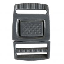3/4 Inch Plastic Center Release Buckle Charcoal