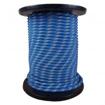 1/2 Inch Kernmantle Rope - Blue with White Tracer
