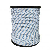 1/2 Inch Kernmantle Rope - White with Blue Tracer