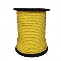 1/2 Inch Kernmantle Rope - Yellow with White Tracer