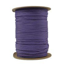 1/8 Inch Parachute Cord - Acid Purple with Silver Gray Stripe