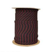 1/8 Inch Parachute Cord - Black with Imperial Red