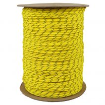 1/8 Inch Parachute Cord - Hot Yellow with Reflective Tracer