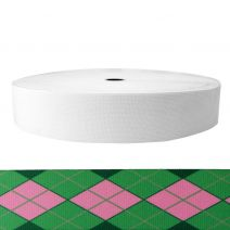 2 Inch Sublimated Elastic Argyle: Pink and Green