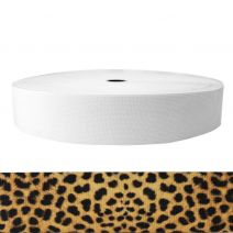 2 Inch Sublimated Elastic Leopard