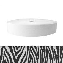 2 Inch Sublimated Elastic Zebra