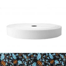 1-1/2 Inch Sublimated Elastic Bees