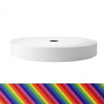 1-1/2 Inch Sublimated Elastic Rainbow Stripe