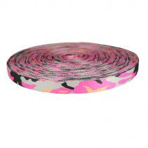 1 Inch Picture Quality Polyester Webbing Camouflage Pink