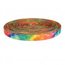 1 Inch Picture Quality Polyester Webbing Tie Dye