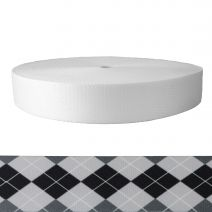 2 Inch Picture Quality Polyester Webbing Argyle: Black and White