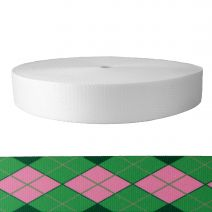 2 Inch Picture Quality Polyester Webbing Argyle: Pink and Green