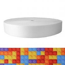 2 Inch Picture Quality Polyester Webbing Color Blox